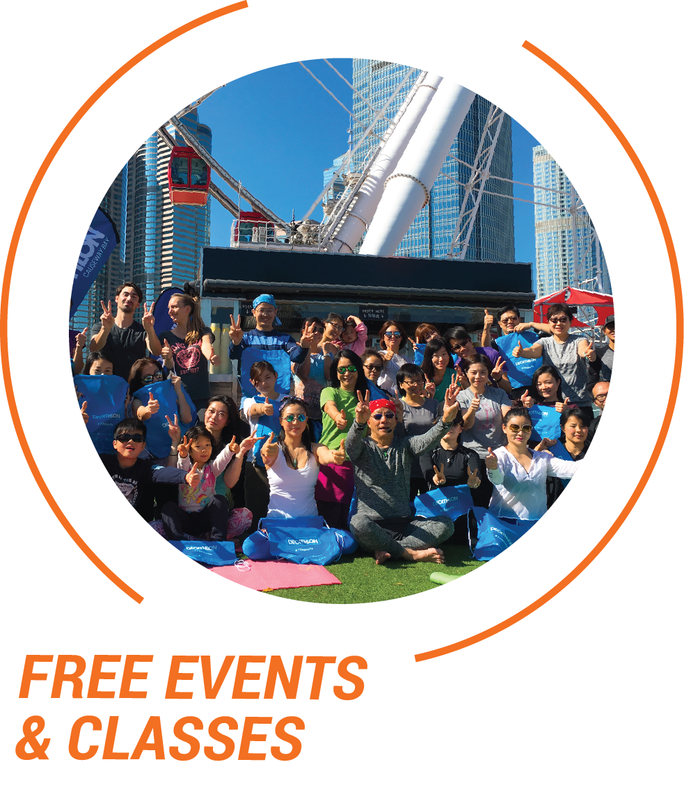 Join Decathlon HK to enjoy our free events & classes