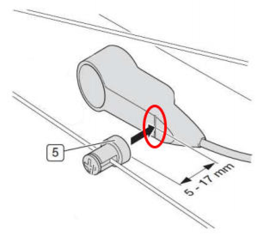 Position of the Brose speed sensor