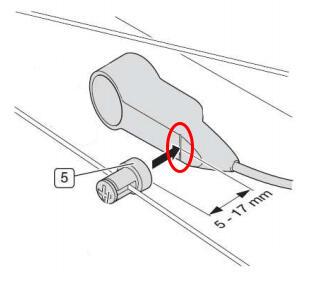 Speed sensor BROSE positionning