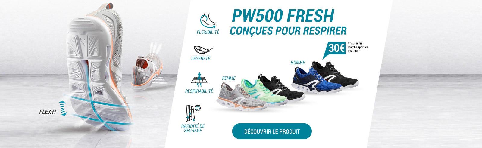 PW 500 FRESH conçues pour respirer