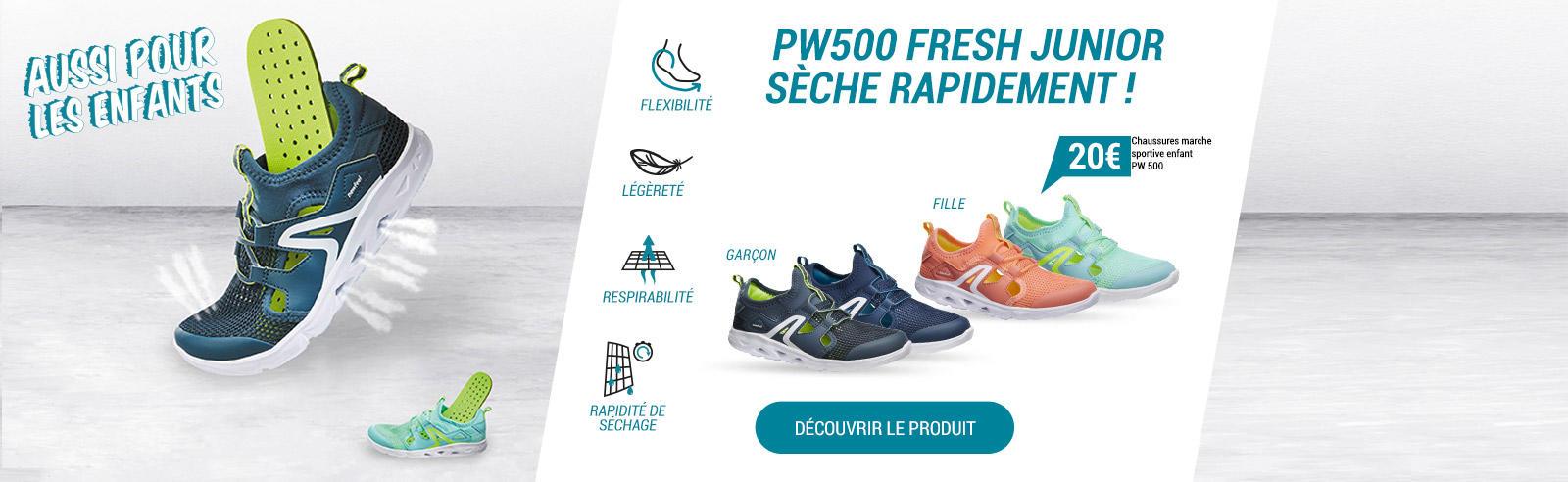 La PW500 Fresh c'est aussi pour les enfants !