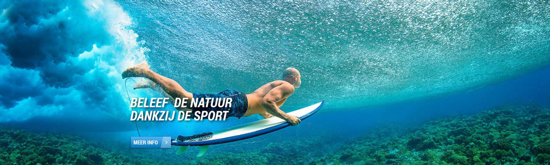 surfen in zomer