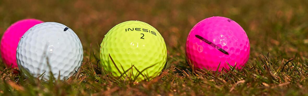Balles de golf de couleur Inesis par Décathlon