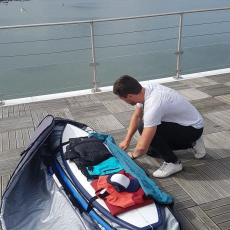 préparation du boardbag