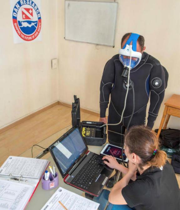 test laboratorio DAN EUROPE