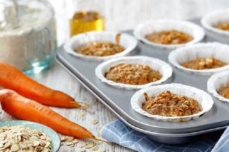 carrot and cinnamon protein muffins