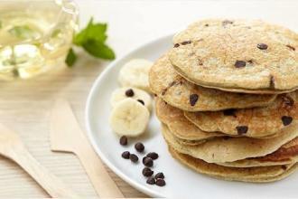 pancakes banane chocolat