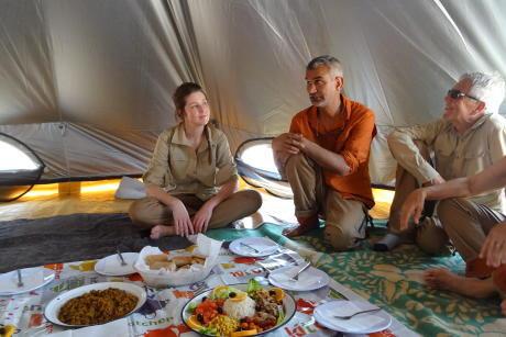 dejeuner desert maroc