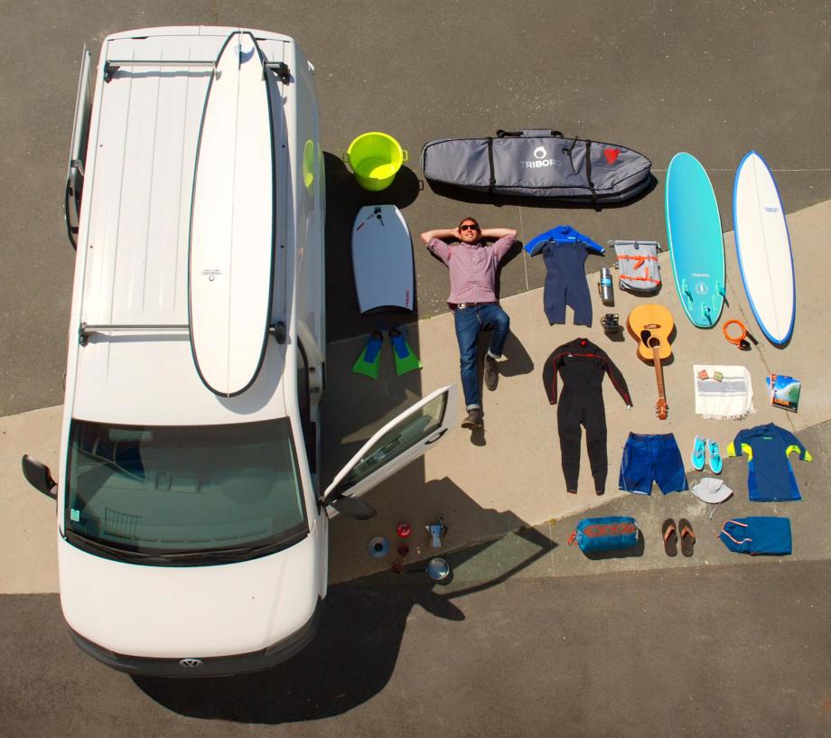 liste des choses à emporter pour partir en surf trip