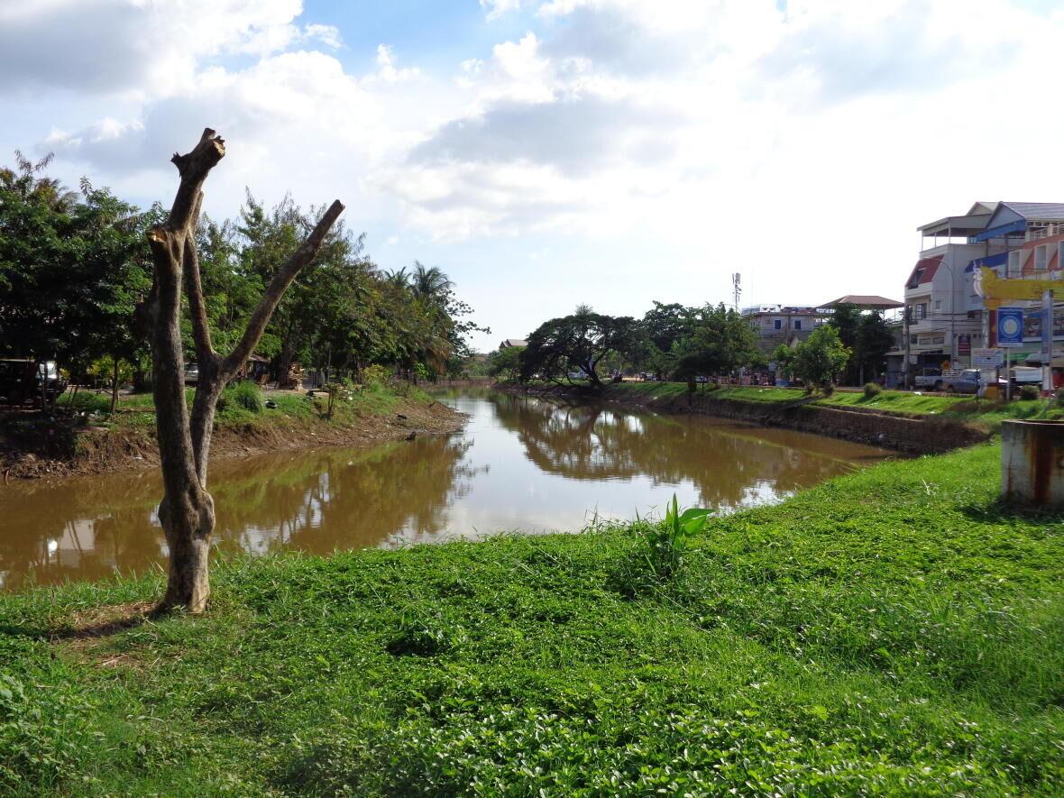 rivière siem reap cambodge