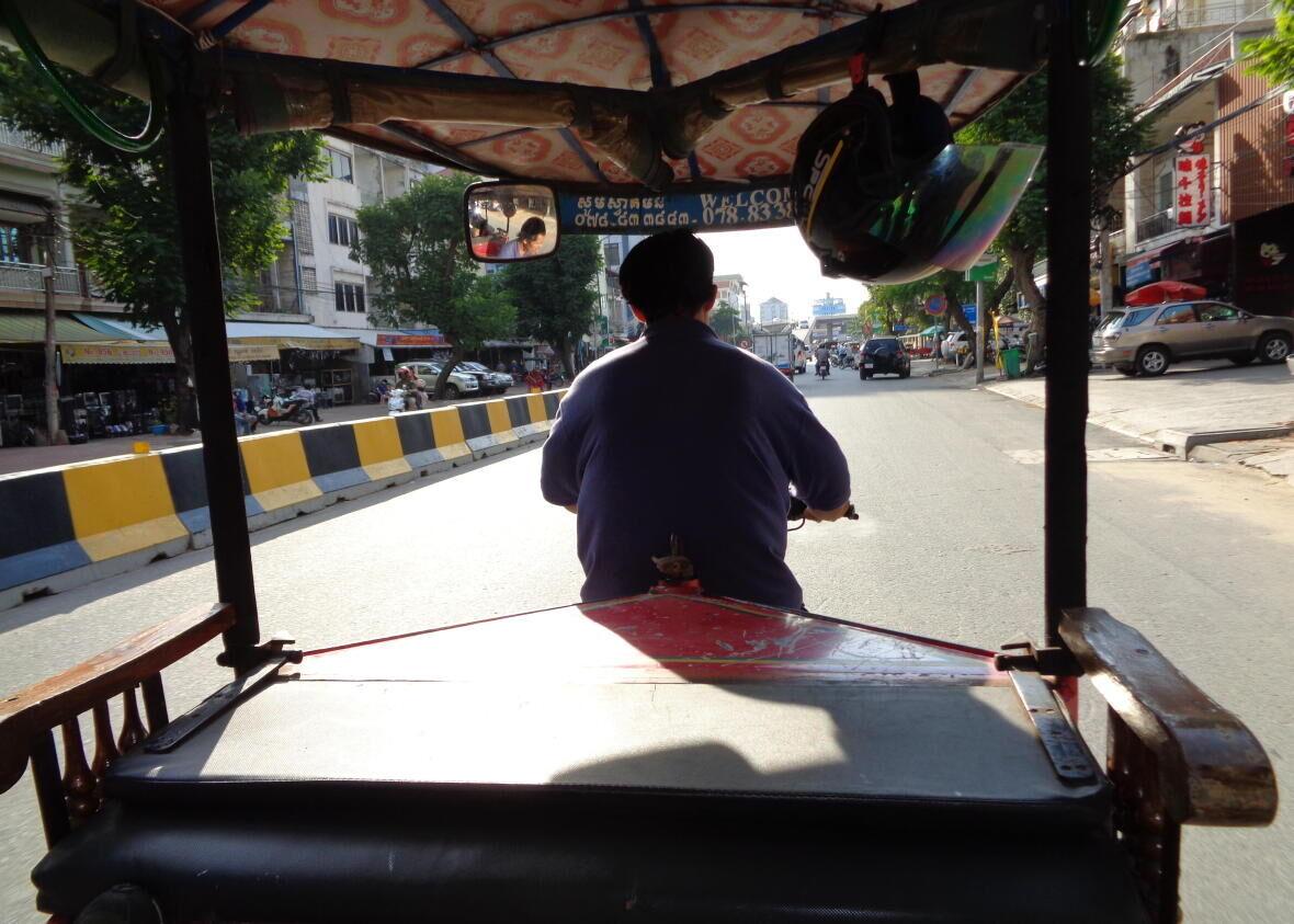 tuktuk phnom penh Cambodge