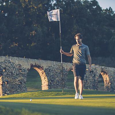 fin de trou parcours golf inesis