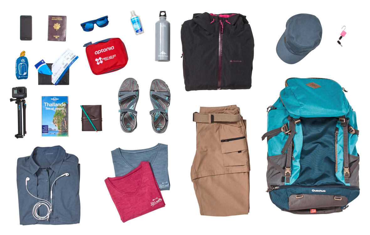 travel backpack contents