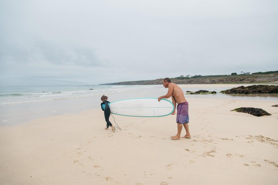 surfer-en-famille