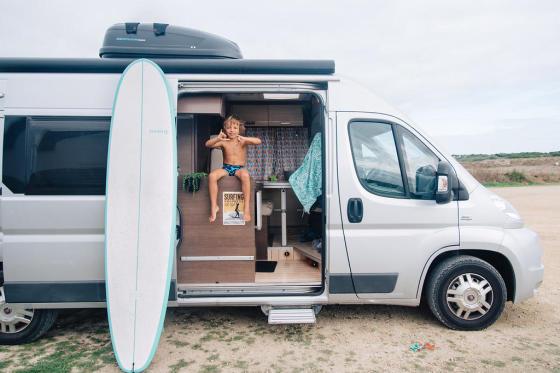 Road surf trip en famille en Bretagne