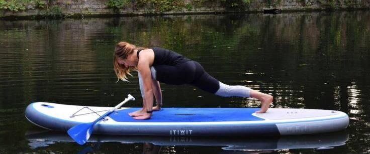 SUP yoga fente