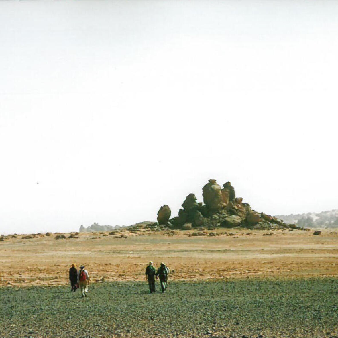 trek dans le désert en lybie Tassili de Maghidet