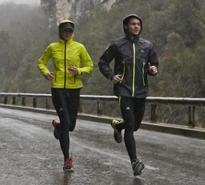 Courir sous la pluie