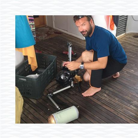 making-of shooting photo sous-marine subea