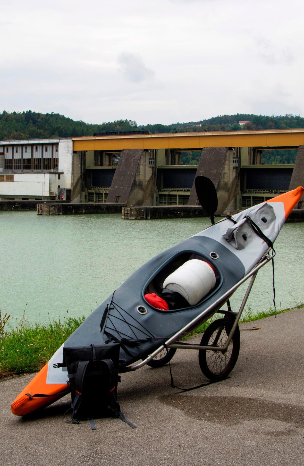 Danube inflatable kayak trip