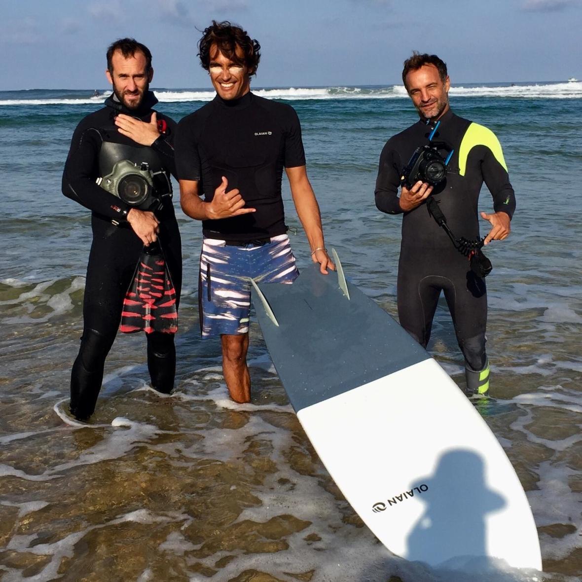 bastien bonarme et fabien leboulluec en shoot surf olaian