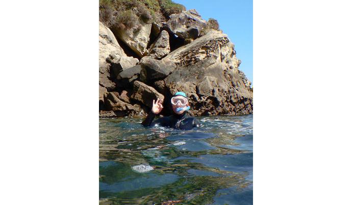 Myriam, modéliste sur les combinaisons néoprène de plongée Subea