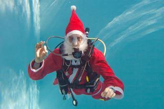 Que presente oferecer a um mergulhador no Natal?
