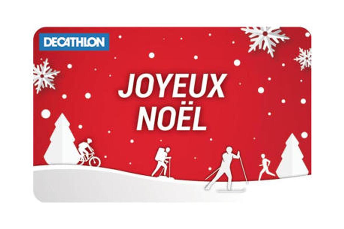 La carte Decathlon : un beau cadeau pour Noël