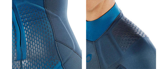 shoulder reinforced diving wetsuit