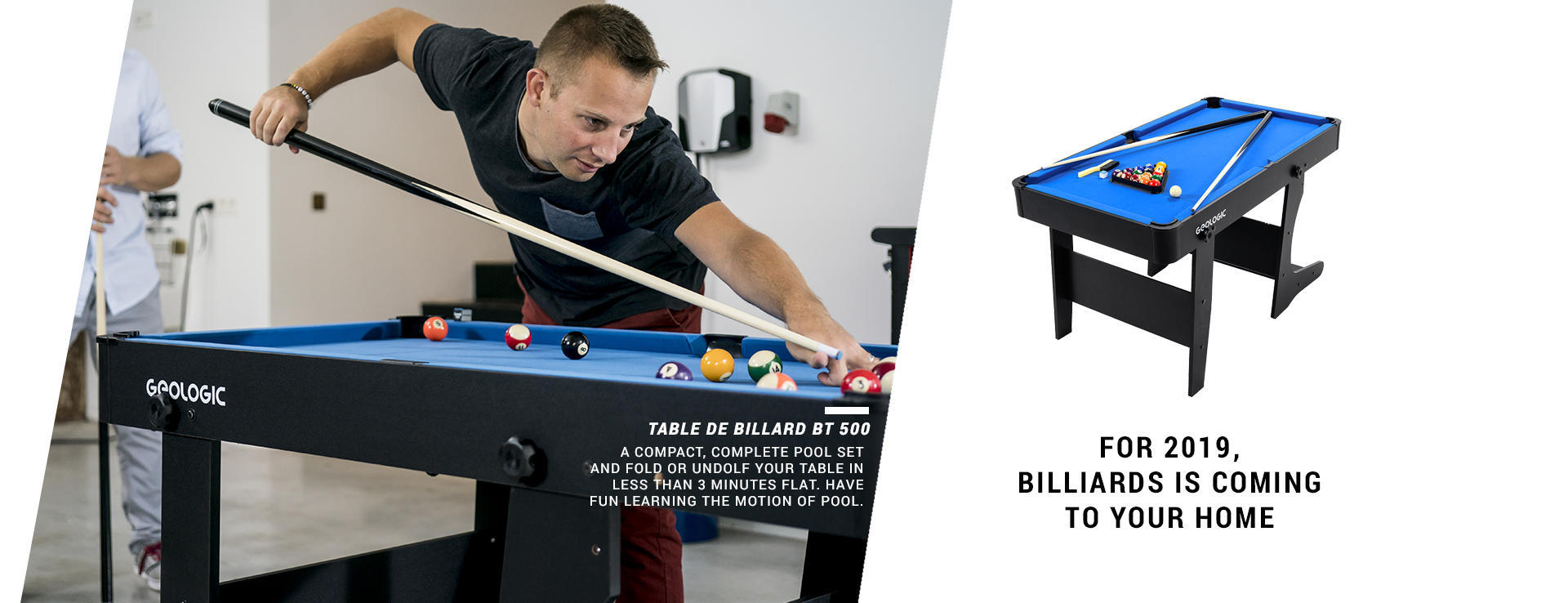 For 2019 Billiard is coming to your home