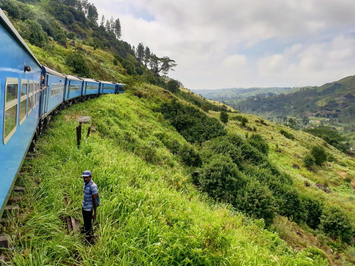 train sri lanka Nuwara Eliya champs de thé