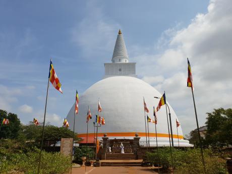dagoba anuradhapura temple srilanka