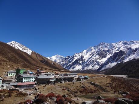 Cédric Nepal langtang kyanjin gompa arrivée