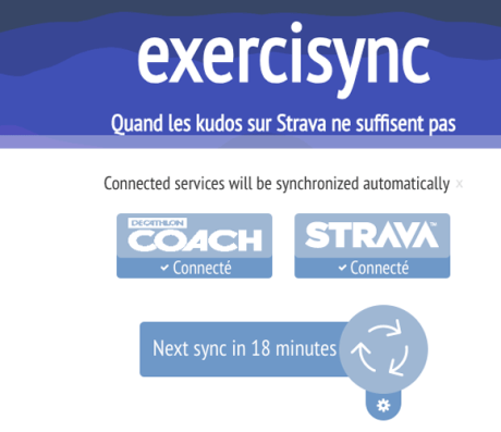 exercisync synchronisation