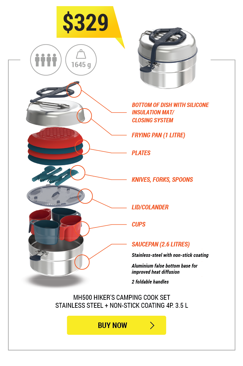 MH500 3.5L Camping Cookset