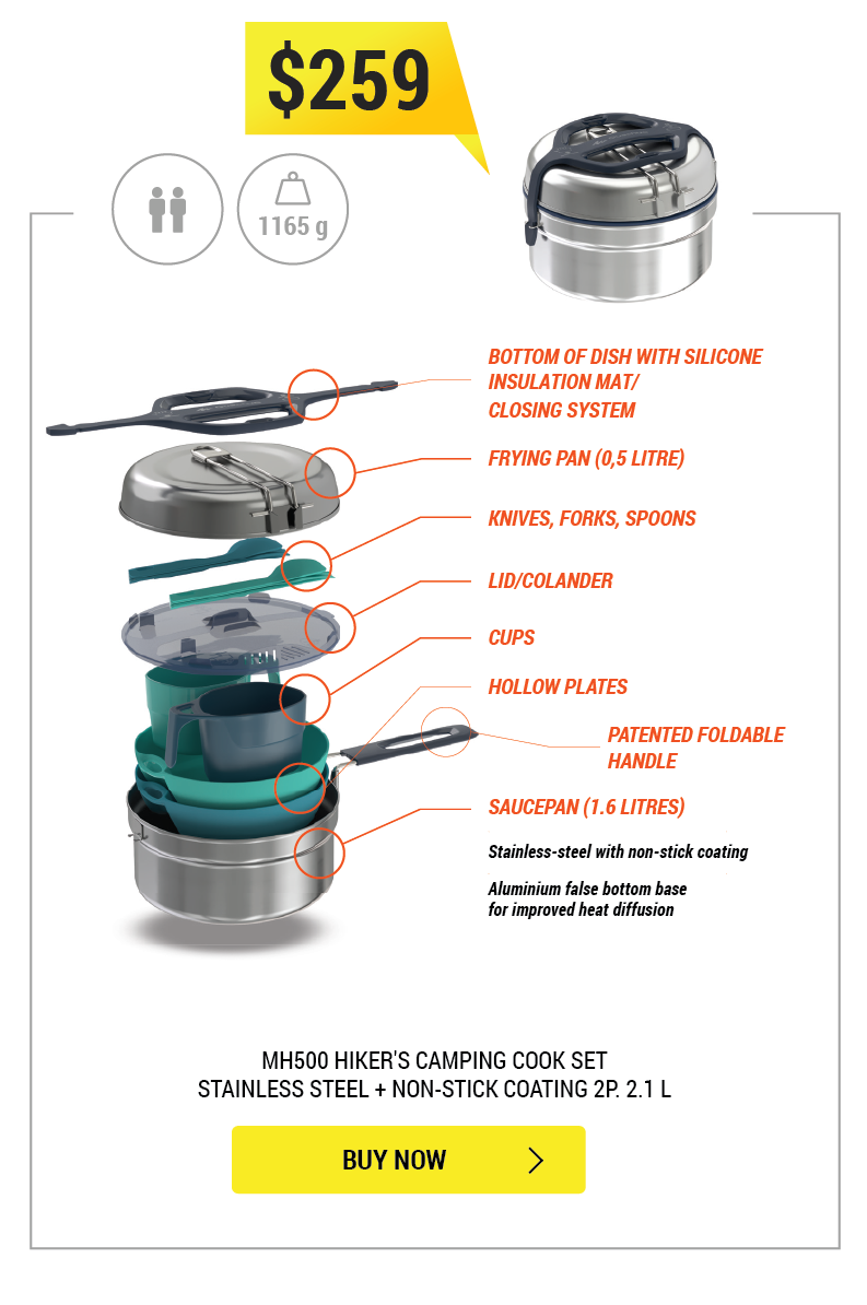 MH500 2L Camping Cookset