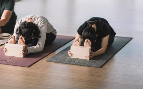 stretch yoga voeten