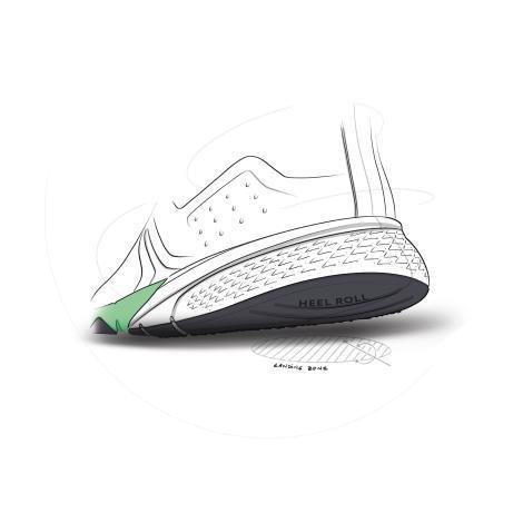 concept chaussure de marche heel roll
