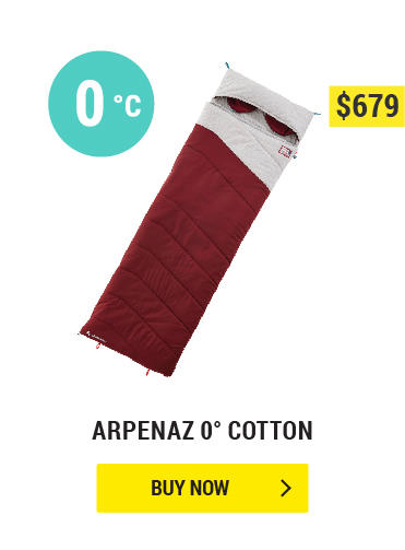ARPENAZ 0° COTTON CAMPING SLEEPING BAG