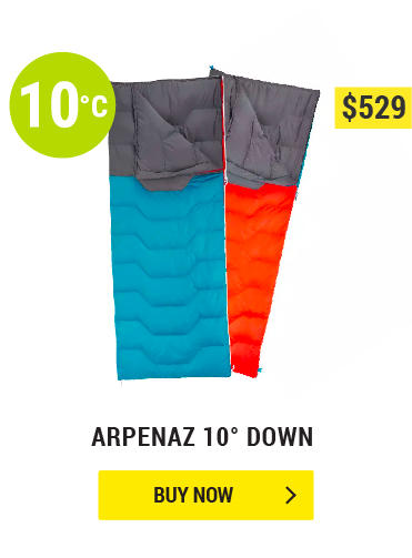 ARPENAZ 10° DOWN CAMPING SLEEPING BAG