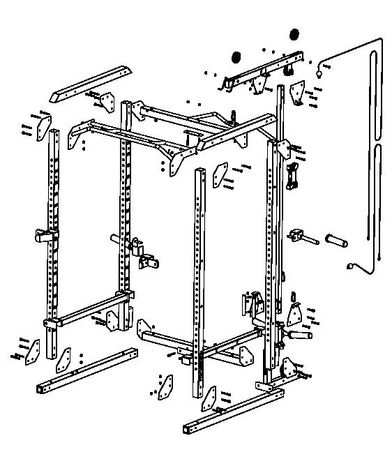 Vista despiezada del RACK 900
