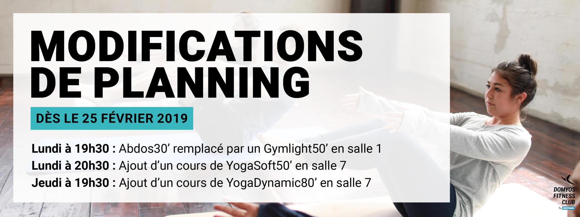 Modif Planning Lille 2019