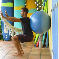 entrainement preparation physique squat surfeur