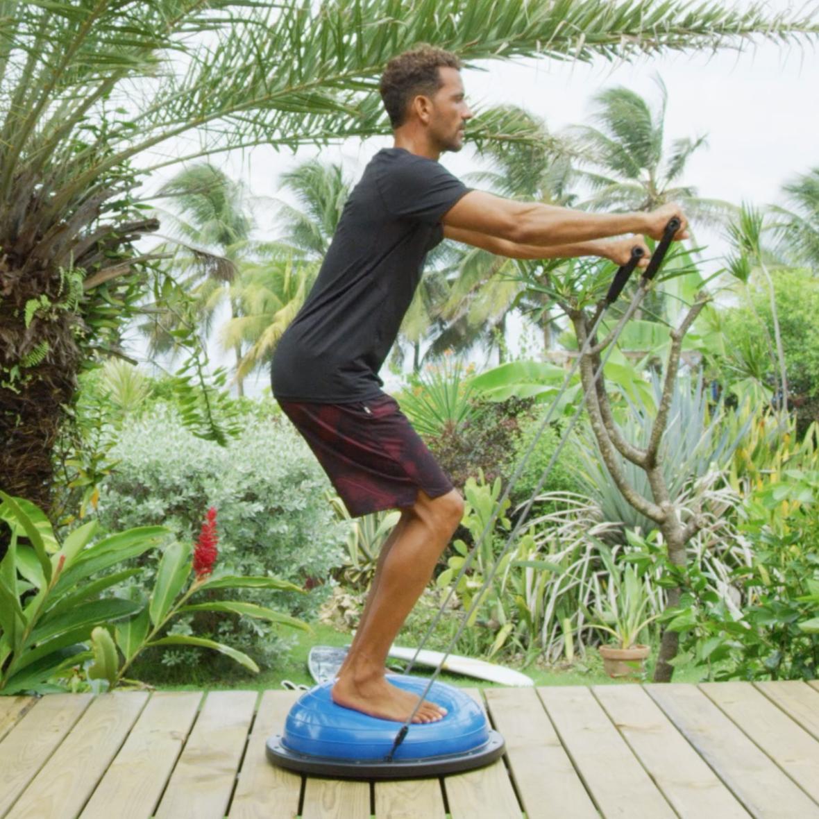 préparation physique pour surfeur bosu ball