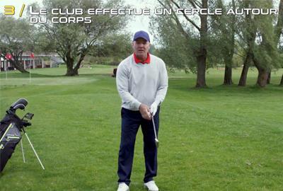 Club autour du corps swing golf inesis