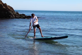 stand up paddle board turning technique