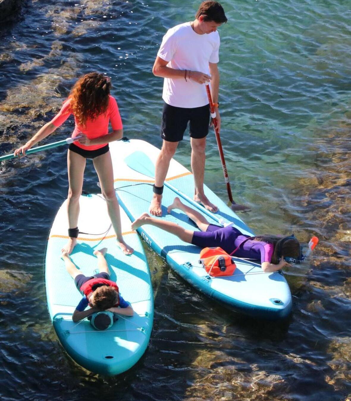 enfant stand up paddle balade