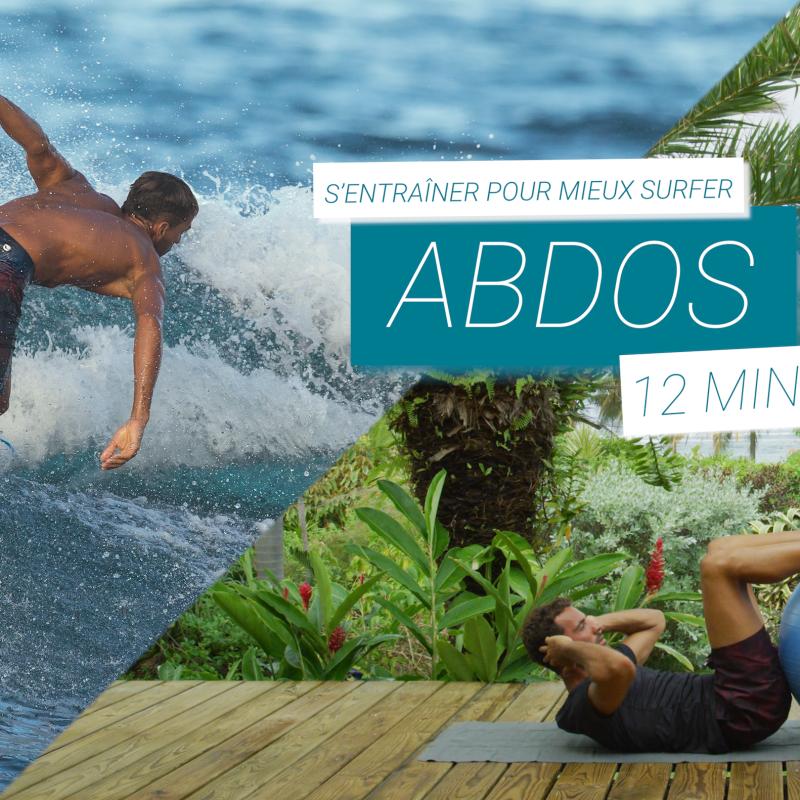 préparation physique surfeur abdos