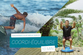 préparation physique pour surfeur équilibre et coordination