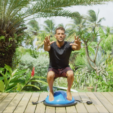 squat sur bosu ball surf